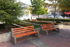 New 20 benches on the central square in St. Vlas