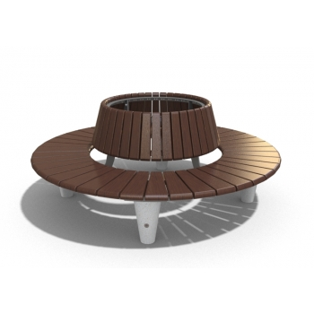 ROUND BENCH WITH BACKREST