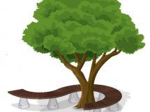 SPLINE TREE BENCH