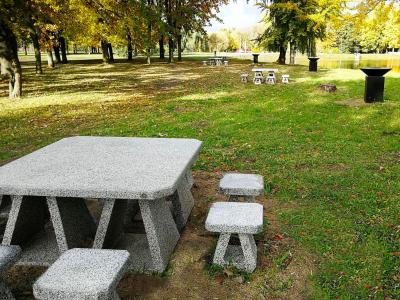 ENCHO ENCHEV-ETE COMPANY DESIGNED PICNIC TABLES UNDER AN INDIVIDUAL PROJECT FOR THE TOWN OF MARIAMPOLE, LITHUANIA.