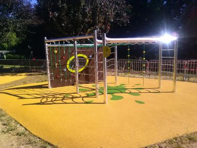 Playgrounds in the city of Sarlat la Caneda (France) with new play tables for outdoor games by Encho Enchev - ETE