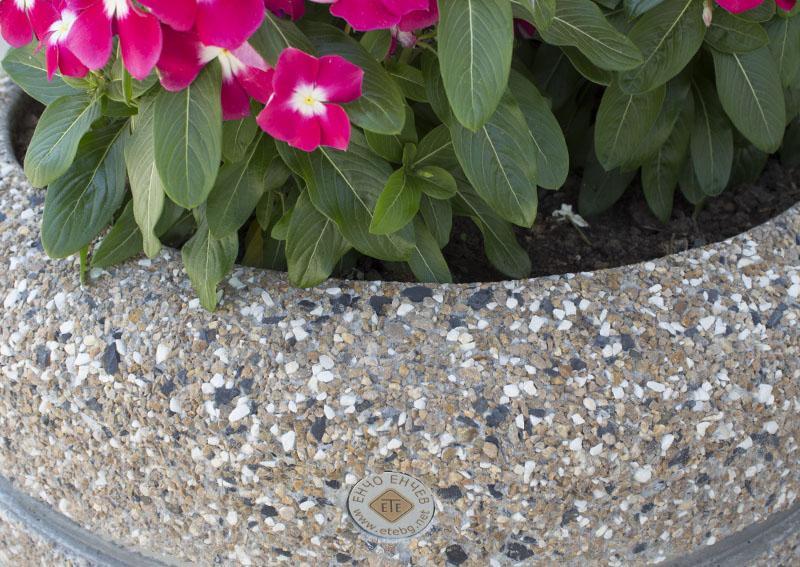 Waschbeton Pflanzkübel pflanzkübel aus beton - modell 15