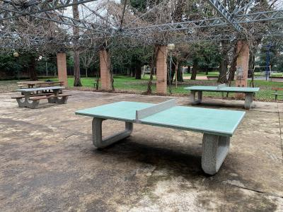 In the small town of Mesero, Italy, you can now enjoy games of Chess and Table tennis outdoors
