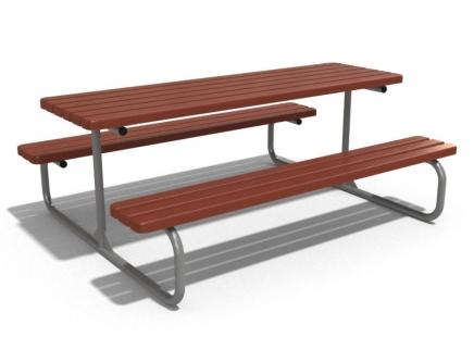 Metal piknik masası