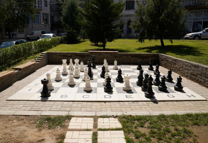 GIANT OUTDOOR CHESS BOARD / PLAYGROUND