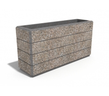RECTANGULAR CONCRETE PLANTER