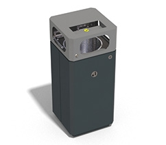Metal litter bins