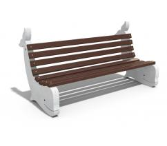 Concrete bench - whale