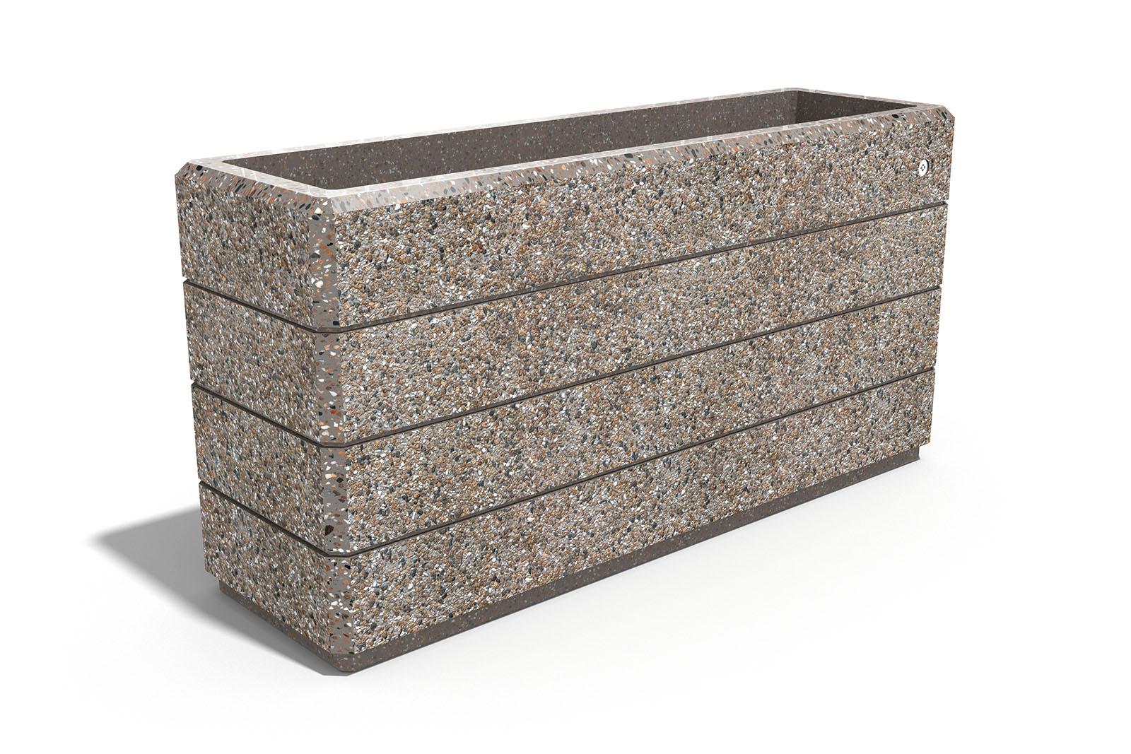 Pflanzkübel Waschbeton.Rectangular Concrete Planter Model 132