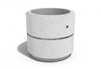 ROUND CONCRETE PLANTER