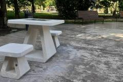 A chess table for the visually impaired is among the new acquisitions in North Park in Sofia