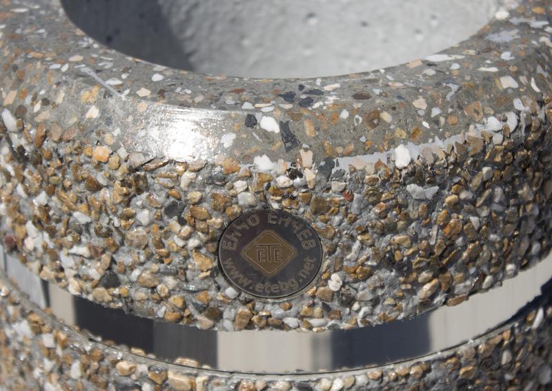 Waschbeton Pflanzkübel pflanzkübel aus beton - modell 19