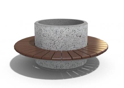 Banklı beton saksı