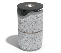 Concrete litter bins