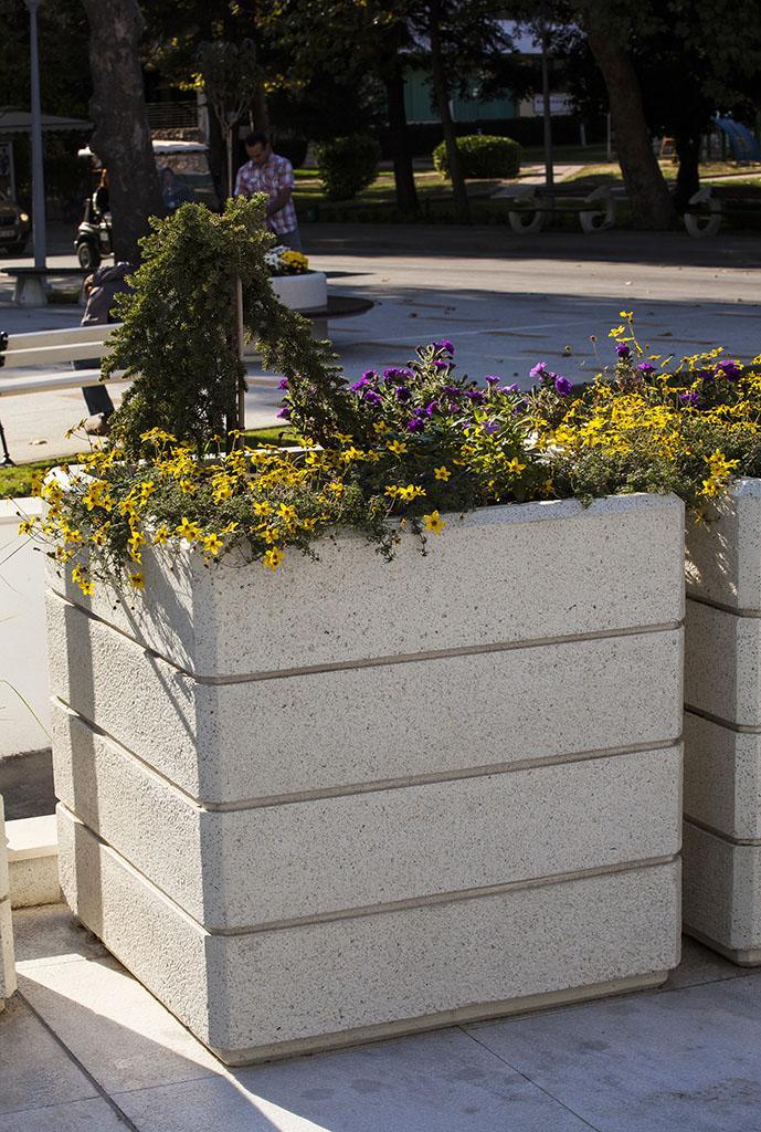 Waschbeton Pflanzkübel pflanzkübel aus beton - modell 73