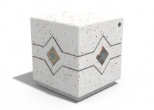 CONCRETE CUBE BOLLARD - LED -
